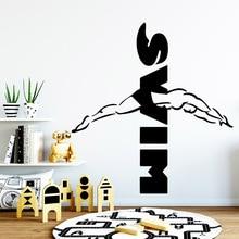 Cartoon swim Wall Stickers Self Adhesive Art Wallpaper For Kitchen Restaurant Pvc Decals Living Room Mural adesivi murali