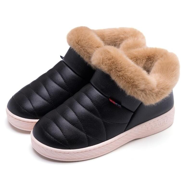 AGUTZM 2019 Women Cotton Boots Waterproof Winter Warm Fur Ankle Boots Thick Soled Warm Shoes Woman Flats Botas Mujer Zapatos women snow boots winter warm fur ankle boots couple thick soled cotton shoes woman flats waterproof slip on botas mujer zapatos