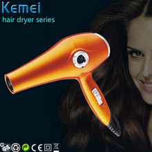 Kemei Anion LED Display Salon Professional Hair Dryer Blow With Nozzles Hairdryer Travel Home Use Two Speed Control Cold or Hot