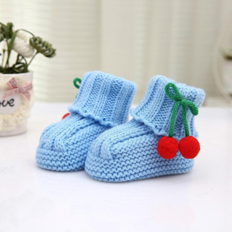 370fbcc1e Kids Baby Boy Girls Warm Knit Crochet Socks Toddler Infant Wool Boots Crib  Shoes Autumn Winter