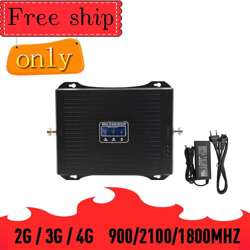 TFX-BOOSTER 2G 3G 4G Triple bande amplificateur de Signal de téléphone portable GSM 900 LTE 1800 WCDMA 2100mhz 30dBm répéteur de Signal cellulaire Mobile