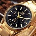2017 chenxi cuarzo de oro reloj de los hombres de primeras marcas de lujo relojes de pulsera de los hombres de oro reloj hombre reloj de cuarzo reloj relogio masculino