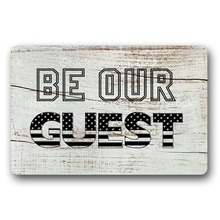 цена Entrance Floor Mat Non-slip Doormat Be Our Guest Door Mat Outdoor Indoor Rubber Mat Non-woven Fabric Top 15.7x23.6 Inch