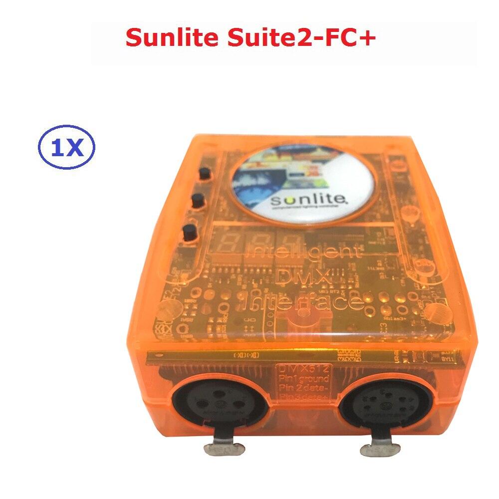 Clássico Controlador USB DMX Interface Virtual Dj Discoteca Dj Controlador Sunlite Suite2-FC + Computador Controlador Fácil de Operar