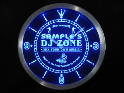 ncqh-tm Name Personalized Custom DJ Zone Music Turntable Neon Sign LED Clock Wholesale Dropshipping
