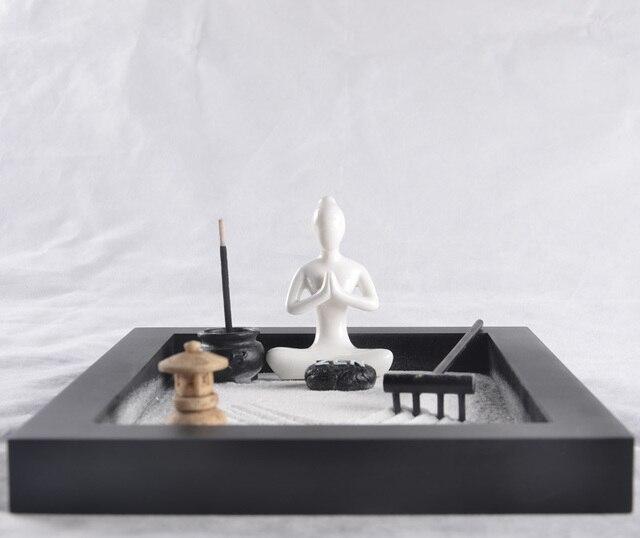 la gama alta de regalo zen karesansui candle holder autocultivo cultura zen japons decoracin