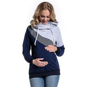 Image 2 - בגדי הריון אופנה משולבת אמא הנקה נים חולצה תפרים הנקה הריון נשים בגדים