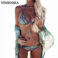 VINIKNIKA Bikini 2017 Women Swimsuit Sexy Brazilian Swimwear Floral Bikini Set Bandage Bathing Suit Swim Beach