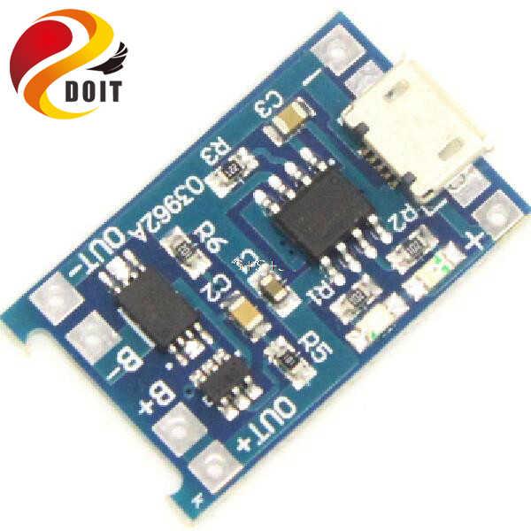 DOIT 5 V Micro USB 1A 18650 Perlindungan Baterai Lithium Pengisian Dewan Charger Modul untuk Arduino Diy Kit