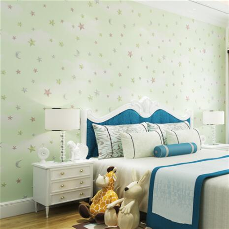 wellyu Modern simple wallpaper living room bedroom film and television wallpaper personality stripe non-woven plain wallpaper