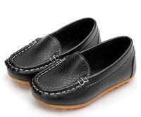 New 2017 Children Shoes High Quality PU Leather Loafers Boys Girls Non Slip Sneakers Kids Soft