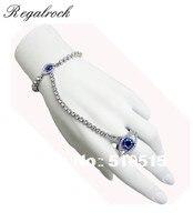 Regalrock Mariah Carey Madonna Crystal Chain Leona Lewis Blue Evil Eye Bracelet