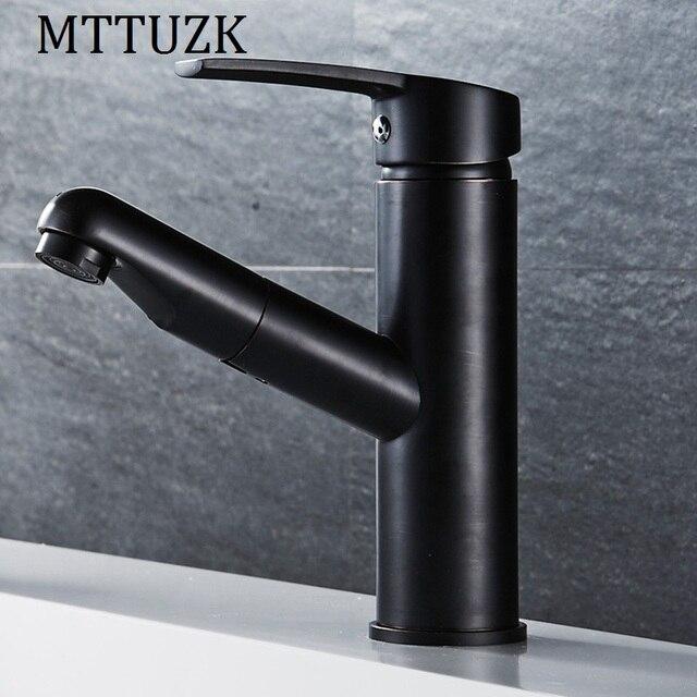 MTTUZK Ziehen Gold/Schwarz/ORB Küchenarmatur Kupfer Waschbecken ...
