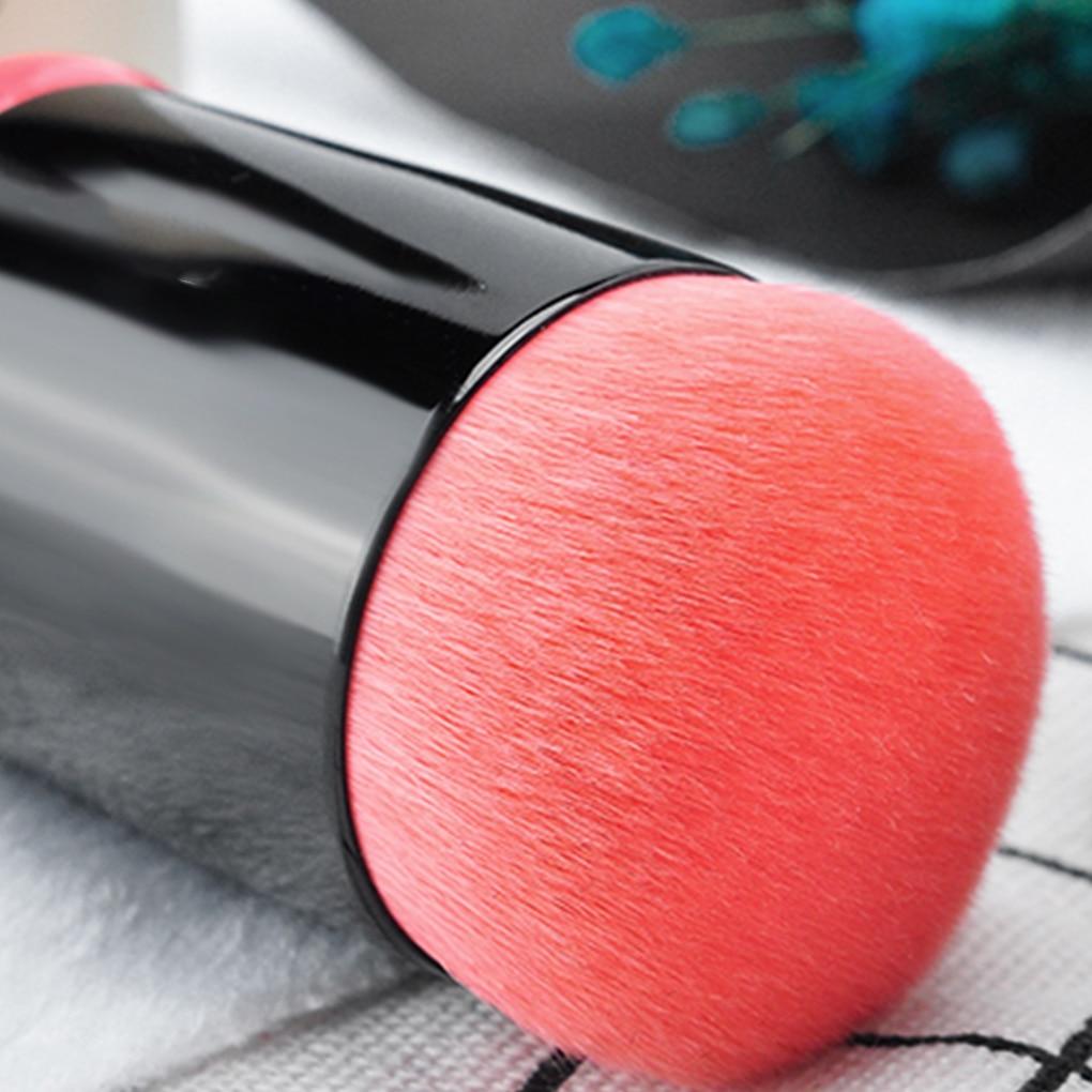 Fashion Pro Retractable Makeup Blush Brush Powder Cosmetic Adjustable Face Powder Brush Kabuki Brush Bamboo Brushes Makeup retractable cosmetic makeup powder multifunction brush claret red