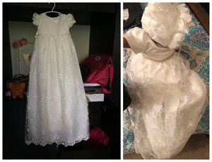 Image 5 - HAPPYPLUS ivoire robe de princesse bébé fille robes de baptême parole longueur longue robe pour bébé douche robe de baptême pour bébé filles