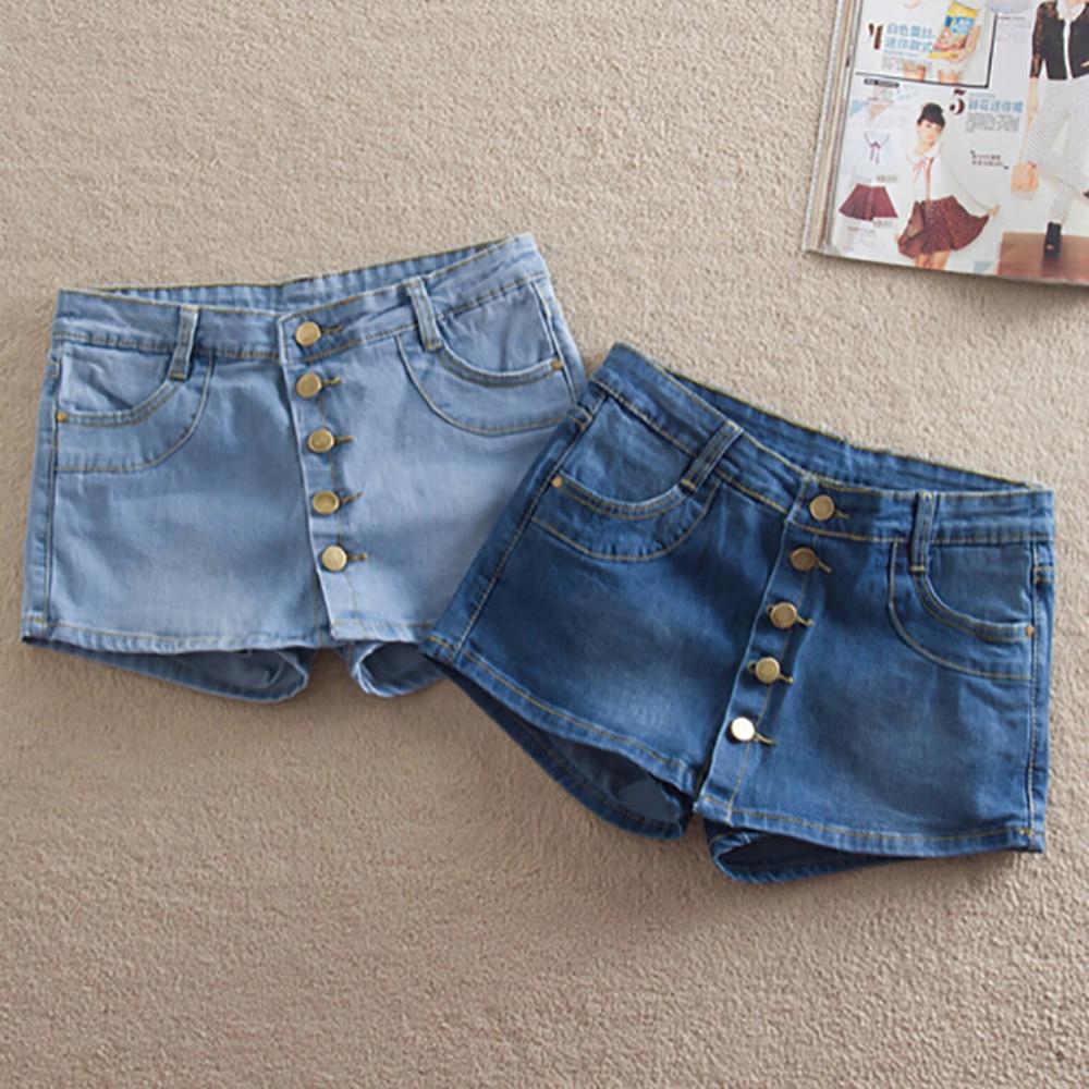 2017 summer brand new fashion women 39 s denim shorts skirts for Women s fishing shorts