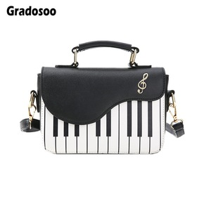 Gradosoo Piano Pattern Shoulder Bag Women Panelled Ladies Handbag Casual Crossbody Messenger Bag Female Women Pouch Tote LBF568