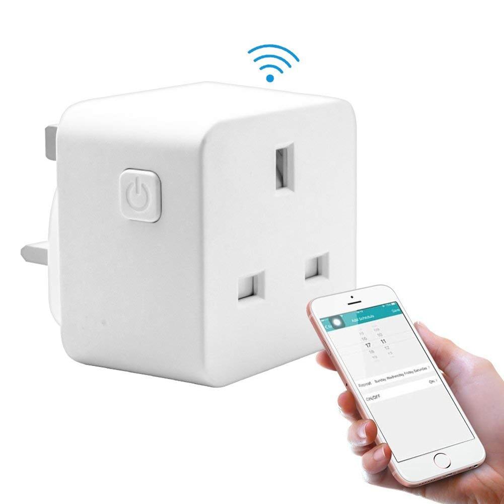 Hot Smart Plug WiFi Socket Power Socket Outlet Switch Support for Amazon Alexa UK Plug