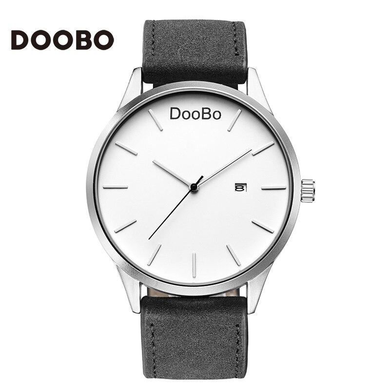DOOBO Mode Casual Herrklockor Topp Märke Luxury Läder Business - Herrklockor - Foto 3