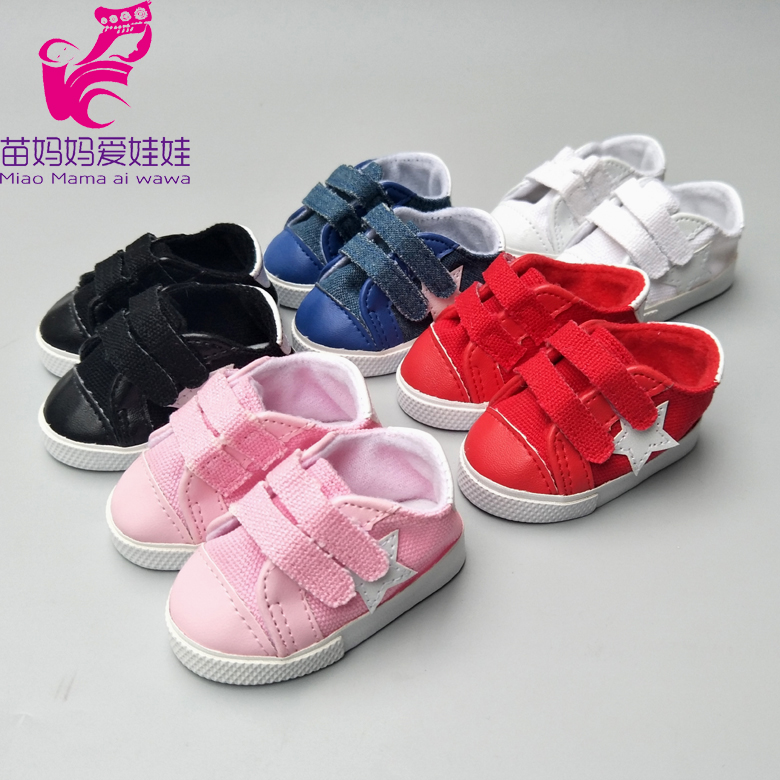 7.5cm Doll Shoes Sneackers For 18 Inch Doll Sport Shoes, 17 Inch Baby Doll Shoes