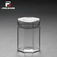 Japanese Style Boutique Clear Glass Tea Cans Tea Caddies Spice Jar Canister Candy Container Flower Tea Nut Storage Tank Tea Pot