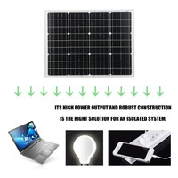 50W 12V Moncrystalline Solar Panel Module Sunpower Charger Outdoor Solar Charging Device For Off Grid RV Boat Car battery