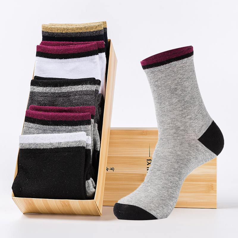 mens combed cotton socks Casual New Breathable Deodorant Anti-Bacterial comfortable happy weed socks for male 5Pairs/Lot no box