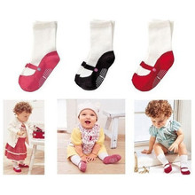 1pair Baby Mid-calf Length Sock Infant Toddler Home Shoes Dancing Ballet Cotton Socks Breathable Princess Socks Christmas Gift