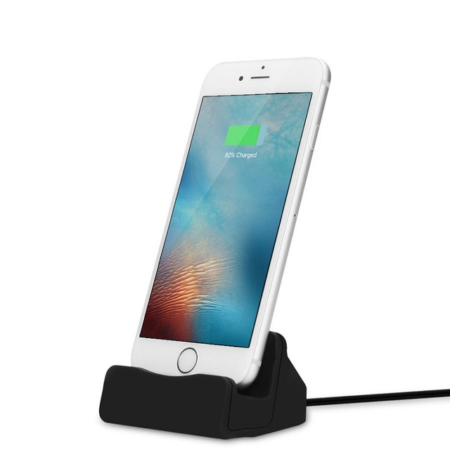 separation shoes efa8a 2b6e9 US $7.12 5% OFF|For iPhone Charger Dock Docking Station For iPhone 8 7 Plus  Dock Chargers For iPhone X SE 5 5S 6 6S Plus Charging Station Base-in ...