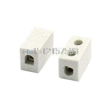 2 Pcs 1W2H High Temperature Porcelain Ceramic Terminal Block 5A 110-600V2 Pcs 1W2H High Temperature Porcelain Ceramic Terminal Block 5A 110-600V