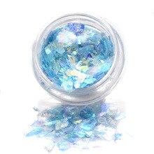 MTSSII Semi-transparent Mermaid Nail Glitter Sequins 1g Colorful Irregular Paillette Manicure Nail Flakies Decoration