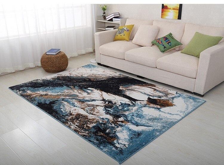 YOOSA tapis moderne minimaliste art abstrait salon tapis thé table chambre tapis méditerranéen carré tapis de sol