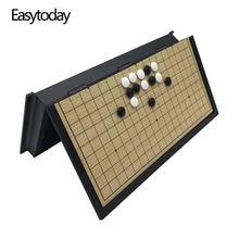 Easytoday высококачественный игровой набор go складная шахматная