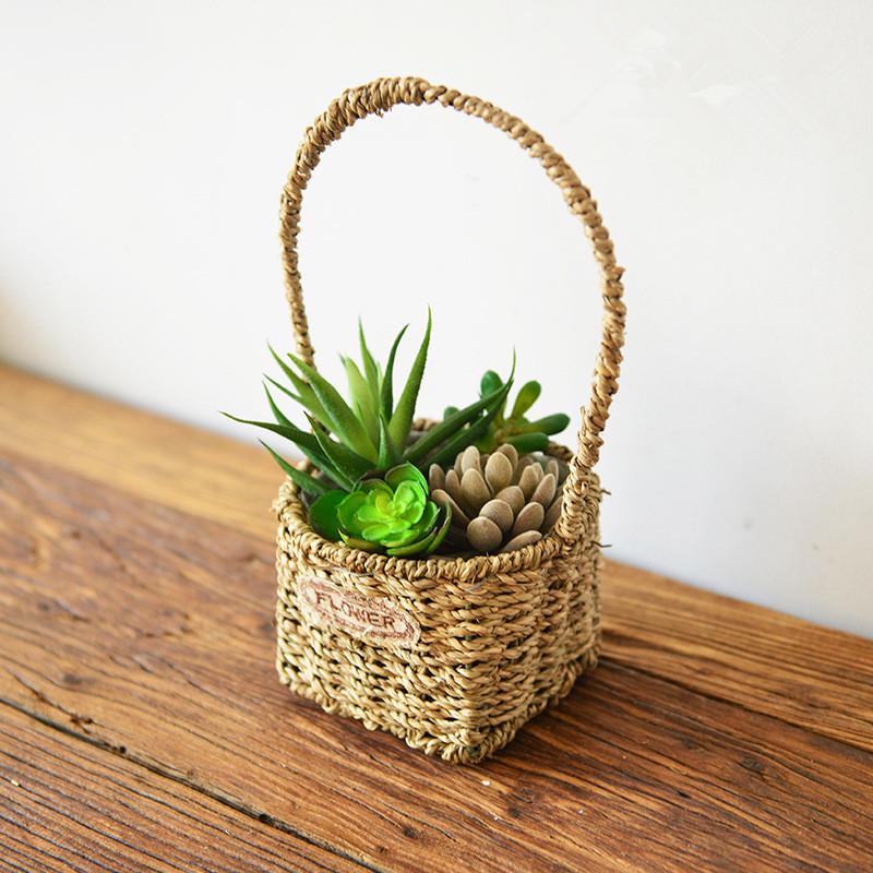 cestas colgantes de escritorio maceta macetas de jardn decoracin artesana muebles para el hogar de
