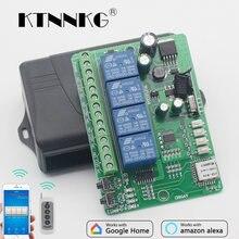 Ac dc 12v 24v 36v wifi переключатель 4ch релейный модуль умный