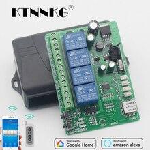 Ac Dc 12V 24V 36V Wifi Schakelaar 4CH Relais Module Smart Home Automation Draadloze Ontvanger En Ev1527 433 Mhz Rf Afstandsbedieningen