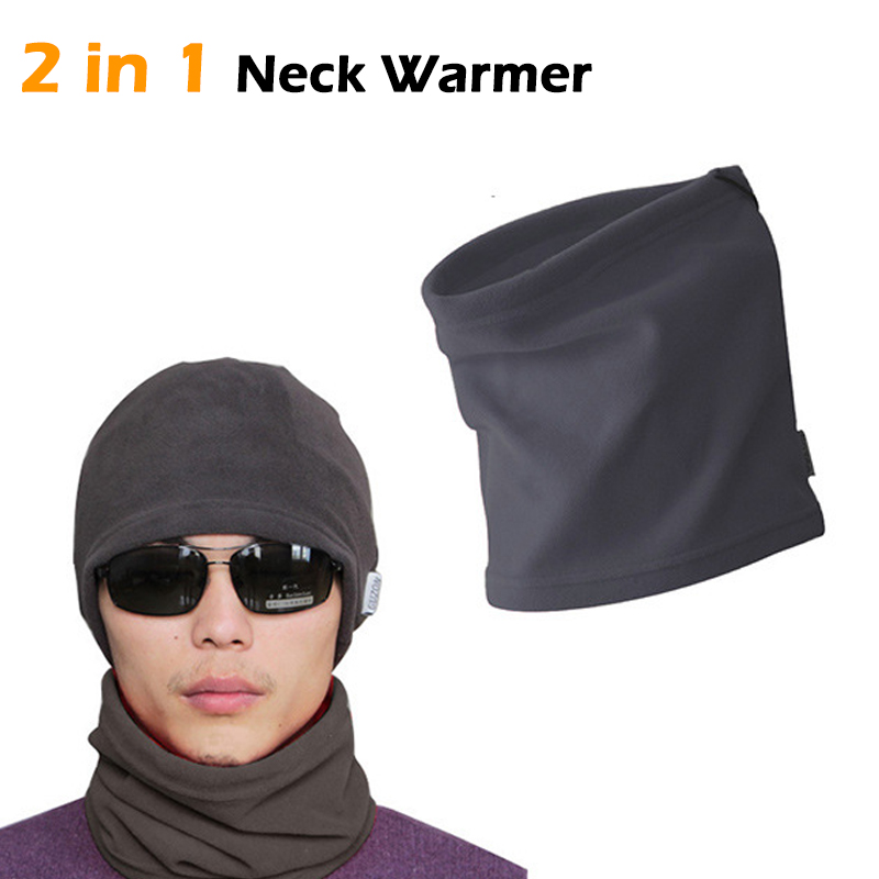 High Quality Multi-functional Polar Fleece Snood Hat Scarf Unisex Men Women Fleece Thermal Snood Hat Neck Warmer Ski Scarf 4 in 1 winter unisex women men warm thermal scarf snood neck warmer face mask beanie hats wear collar