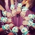 Творческий Запястье Цветок Невесты Сестры рук цветы Искусственные Невесты Цветы Свадебные Украшения Цветок