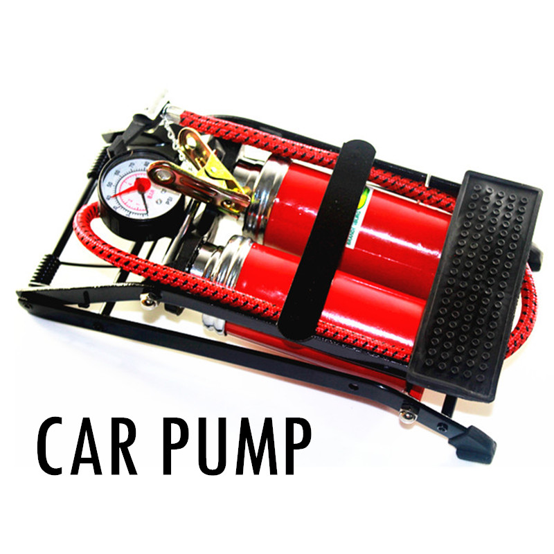 Foot Air Pump car inflator Tires TWO auto pump air compressor Car styling Bicycle Bike Motorbike