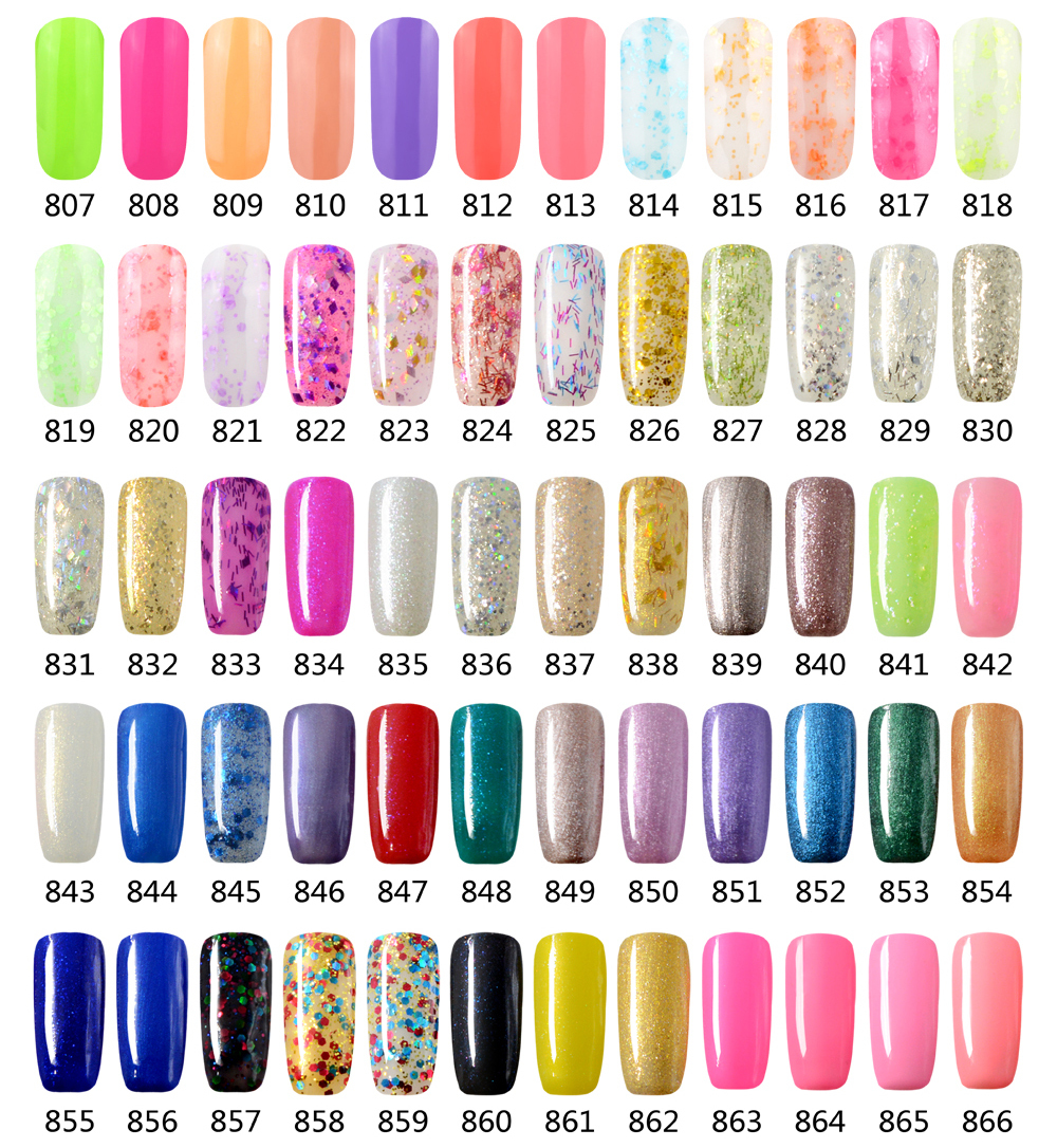 Professional Primer Gel Nail Polish GET 6 UV Color From 807 866 Glitter Cheap Supplier