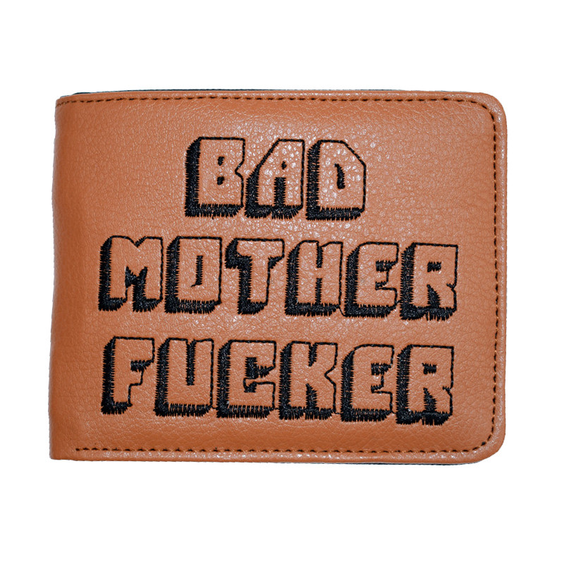 Wallet with Purse Card-Holder Pocket Letters Pulp Fiction Zipper-Coin Fashion Solid Gift