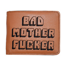 Pulp Fiction Jules Wallet with zipper Coin Pocket Bad Mother Letters Solid