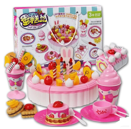 79 pcs set kids toy children birthday cake toys baby for Kitchen set for 7 year old