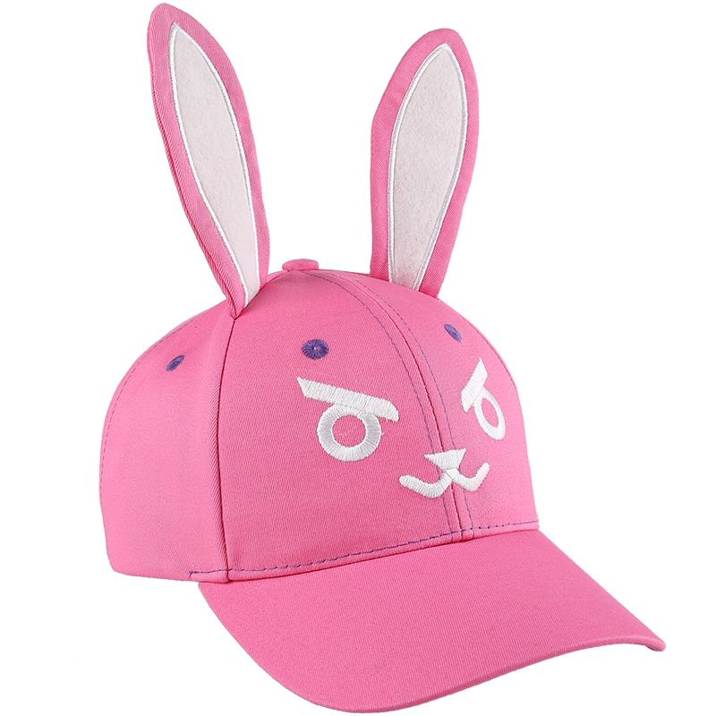 Game OW D.va DVA Cosplay Pink Girls Embroidered Cute Sun Hat Baseball Cap Rabbit Ears Halloween Gift 2017 new fashionable cute soft black grey pink beige solid color rabbit ears bow knot turban hat hijab caps women gifts
