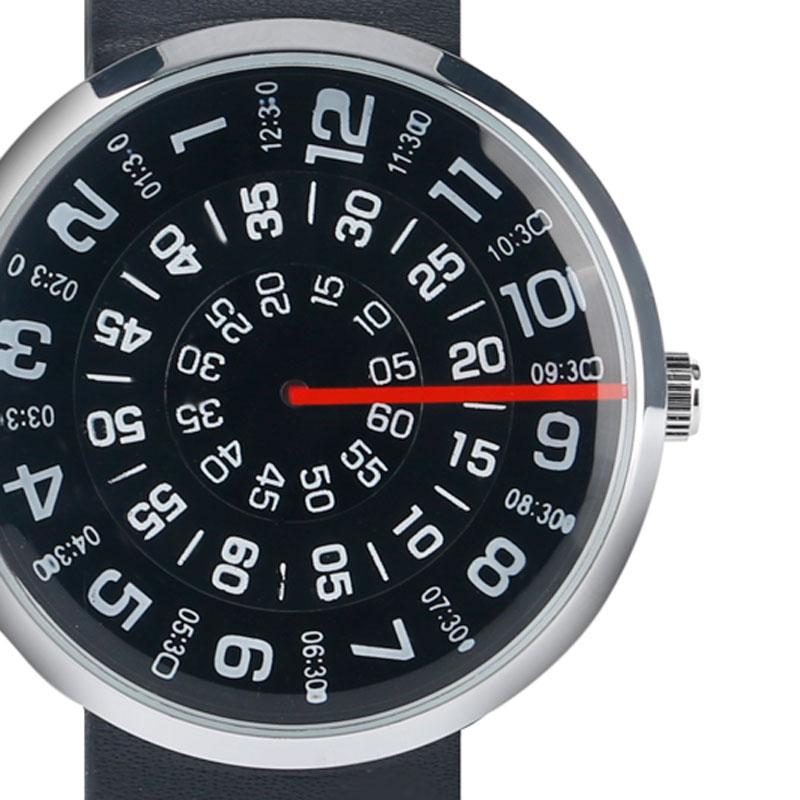 Horloge Heren Creatief Leren Band Band Armband Draaitafel Horloges - Herenhorloges - Foto 4