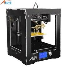 Anet A3 Impresora 3D Full Aluminio Marco De Plástico Montado 12864 LCD 8 GB Tarjeta de la Impresión Off-line con Filamento de gran Tamaño