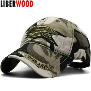 7e21e839537 LIBERWOOD US army NAVY Seal Eagle Camo Camouflage Hat Cap