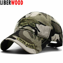 270df7de276 LIBERWOOD United States US USNS USMC Navy army Special Forces Insignia NAVY  Seal hat Eagle Trident Camo Camouflage Hat Cap