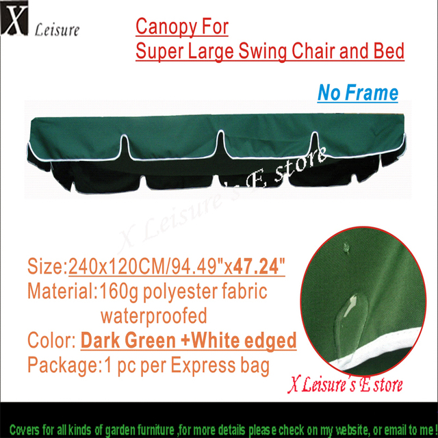 Canopy for large size swing chair and bed Water proofed replacement canopy 94.49 x47.  sc 1 st  AliExpress.com & Canopy for large size swing chair and bed Water proofed ...