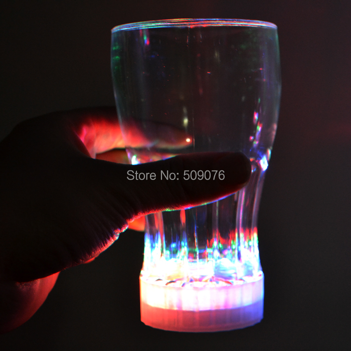 Free shipping 350ml/12oz led glass Colorful LED Light Flashing Beer Mug Drink Cup For Bar Party Wedding Club